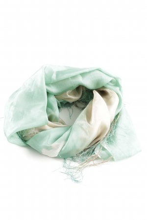 Hallhuber Silk Scarf natural white-turquoise allover print casual look