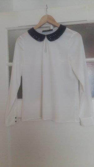 Hallhuber Shirt Bluse (toller Kragen)