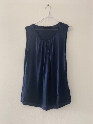 Hallhuber Camisa de corte imperio azul oscuro