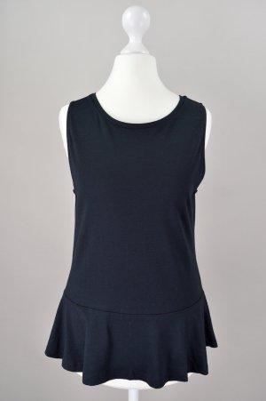 Hallhuber Shirt mit Peplum neu mit Etikett schwarz Größe S