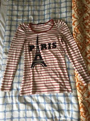 Hallhuber Shirt, Paris, weiß-rot, XS