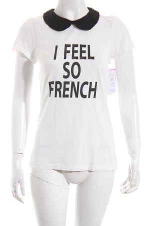 Hallhuber Shirt schwarz-weiß Casual-Look