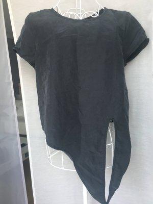 Hallhuber Shirt schwarz zum binden