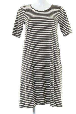 Hallhuber Shirtkleid weiß-schwarz Streifenmuster Casual-Look