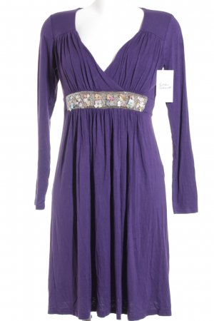 Hallhuber Shirtkleid dunkelviolett Beach-Look