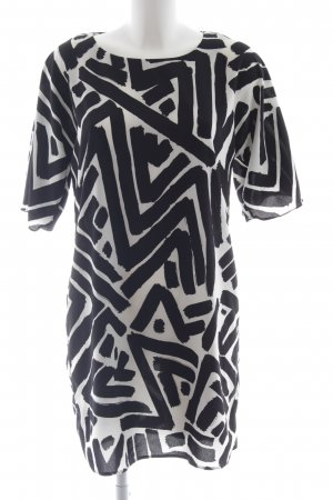 Hallhuber Shirt Dress black-white abstract pattern casual look