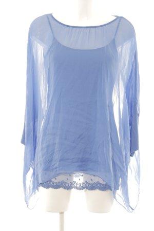 Hallhuber Shirttunika blau Romantik-Look