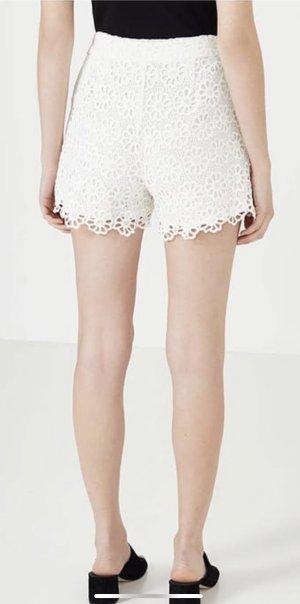 Hallhuber Short taille haute blanc-blanc cassé
