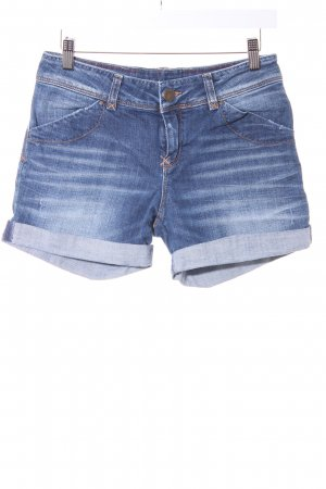 Hallhuber Shorts blau Farbverlauf Bleached-Optik