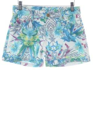 Hallhuber Shorts flower pattern extravagant style