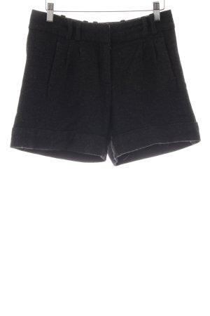 Hallhuber Shorts schwarz-dunkelgrau meliert Casual-Look