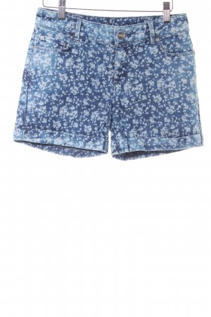 Hallhuber Shorts steel blue floral pattern casual look