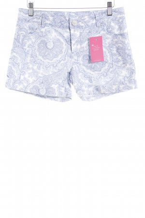 Hallhuber Shorts white-light blue paisley pattern casual look