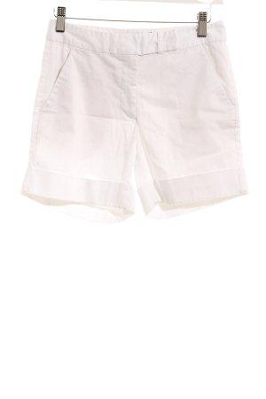 Hallhuber Shorts weiß schlichter Stil