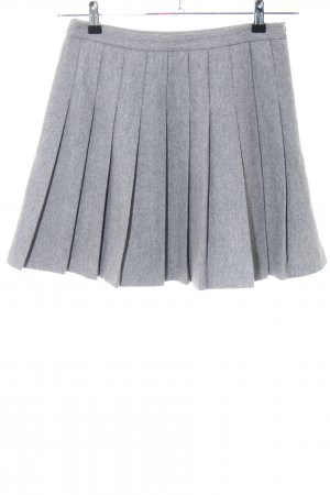Hallhuber Skater Skirt light grey flecked casual look