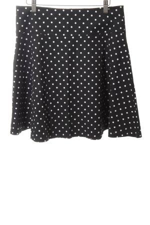 Hallhuber Skater Skirt black-white spot pattern casual look