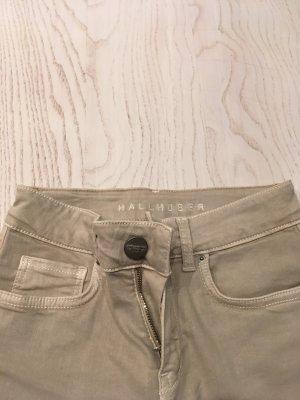 Hallhuber Skinny Fit Jeans, sandfarben, W 27, L 30.