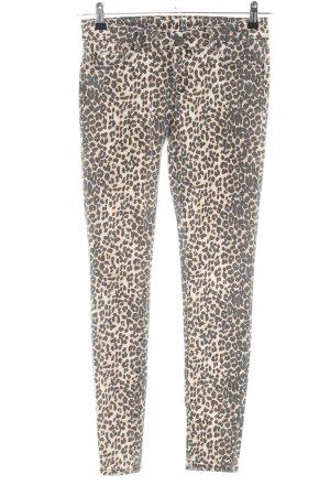 Hallhuber Jeans skinny bianco sporco-nero stampa integrale stile casual