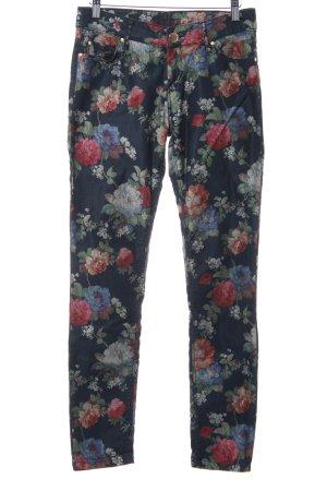 Hallhuber Skinny Jeans Allover-Druck extravaganter Stil