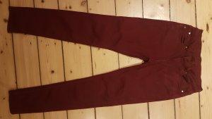 Hallhuber Skinny Jeans bordeaux 36