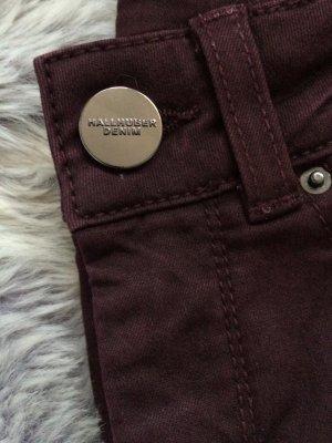 Hallhuber Skinny Jeans Bordeaux Stretch Gr. 34