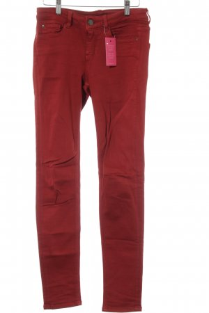 Hallhuber Skinny Jeans dunkelrot Casual-Look