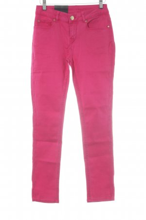 Hallhuber Skinny Jeans raspberry-red casual look