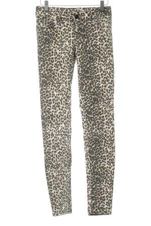 Hallhuber Skinny Jeans Leomuster Casual-Look
