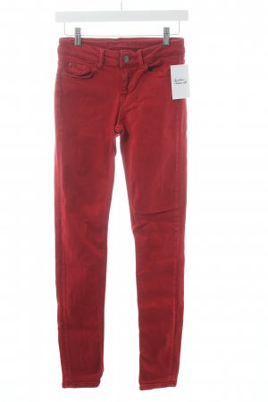 Hallhuber Skinny Jeans rot Casual-Look
