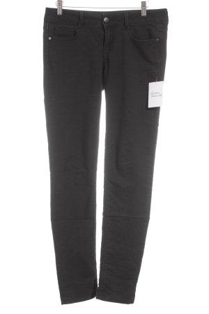 Hallhuber Skinny Jeans schwarz schlichter Stil