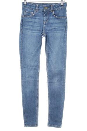 Hallhuber Skinny Jeans stahlblau Casual-Look