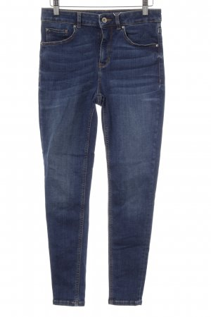 Hallhuber Slim Jeans blau Washed-Optik