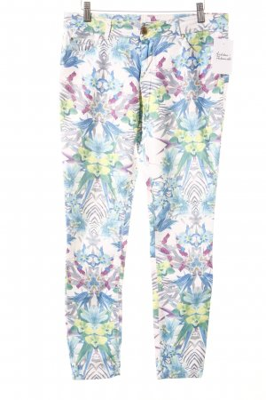 Hallhuber Slim Jeans Blumenmuster extravaganter Stil