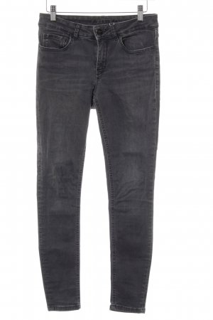 Hallhuber Slim Jeans dunkelgrau Washed-Optik