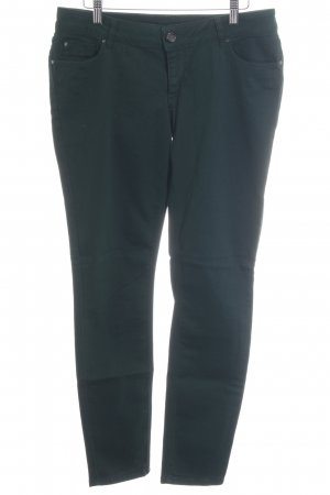 Hallhuber Slim Jeans dunkelgrün Casual-Look