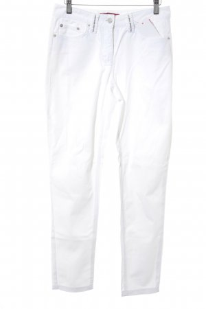 Hallhuber Slim Jeans weiß Casual-Look