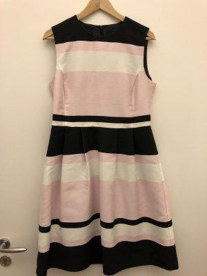 Hallhuber Sommerkleid rosa/weiß/schwarz