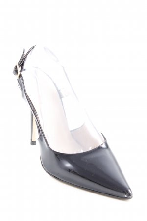Hallhuber Pointed Toe Pumps black-cream classic style