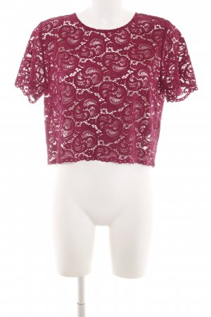 Hallhuber Spitzenbluse rot Mustermix Casual-Look