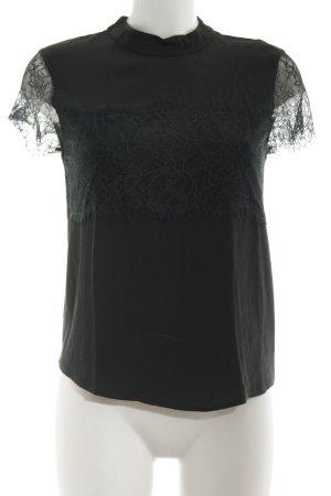 Hallhuber Spitzenbluse schwarz Elegant