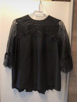 Hallhuber Kanten blouse zwart