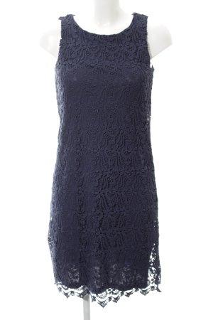 Hallhuber Spitzenkleid blau Allover-Druck Business-Look