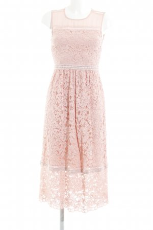 Hallhuber Lace Dress pink abstract pattern romantic style