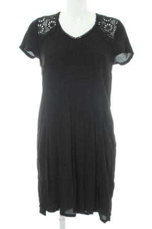 Hallhuber Lace Dress black floral pattern Gypsy style