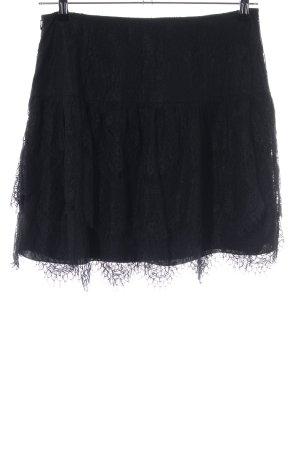 Hallhuber Kanten rok zwart zakelijke stijl
