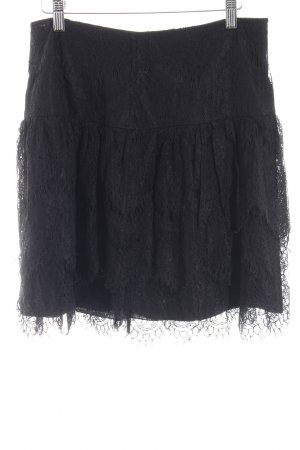 Hallhuber Lace Skirt black lace look