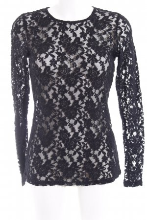Hallhuber Lace Top black elegant