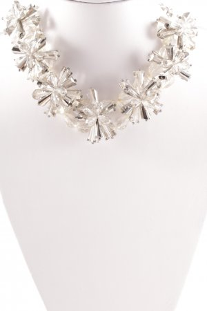 Hallhuber Statement Necklace white-silver-colored street-fashion look