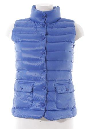 Hallhuber Gewatteerd vest blauw casual uitstraling