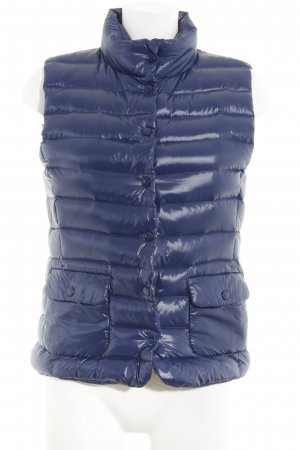 Hallhuber Quilted Gilet blue quilting pattern wet-look